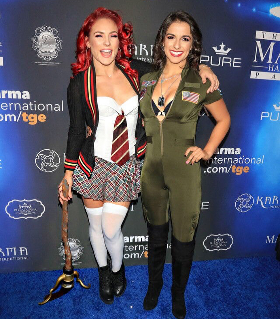 sharna burgess and victoria arlen halloween costumes - miscellaneous
