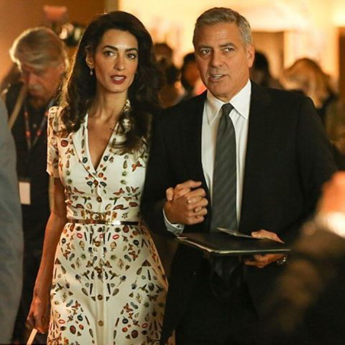 George Clooney and pregnant wife Amal Clooney to avoid