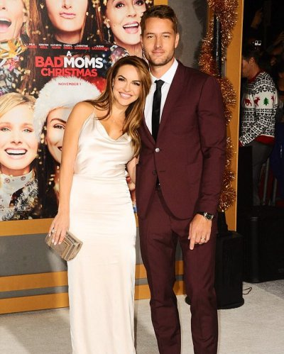 A Bad Moms Christmas Justin Hartley.Justin Hartley And Chrishell Stause Attend A Bad Moms