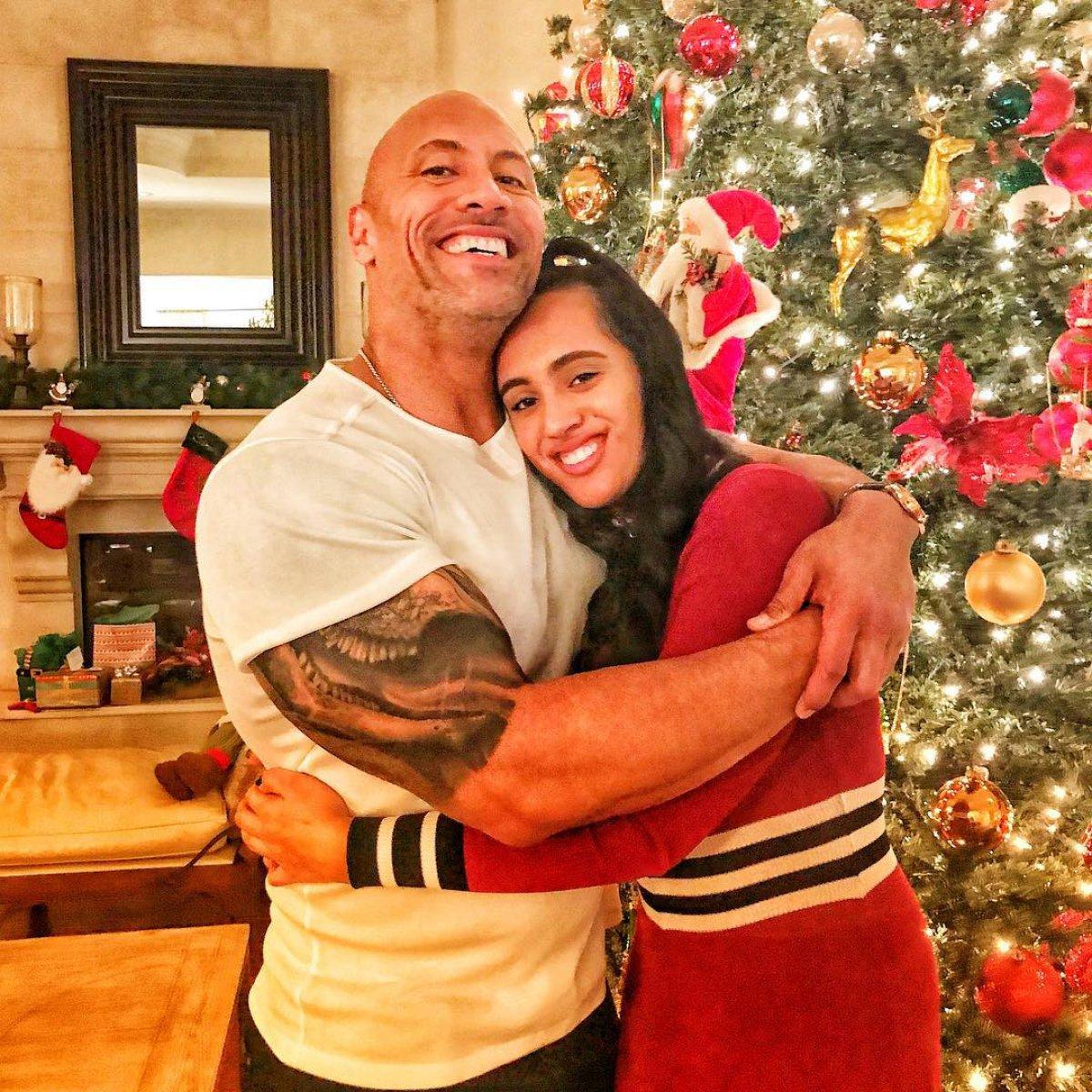 Dwayne Johnson and Kardashian family celebrate Christmas on social ...